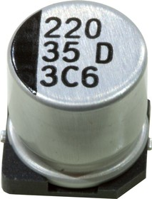 ЧИП электролит.конденсатор 220мкф 35В 105гр 10x10.5