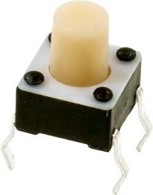 FSM10JH, кнопка тактовая 6х6 h=7.3мм 1-1825910-8