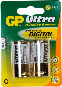 GP 14AU-BC2 ULTRA PLUS ALKALINE ( LR14C343 ), GP 14AU, Ultra Plus, alkaline, ( LR14,C,343 ) ,1шт.