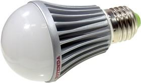 Лампа светодиодная 5 Вт. Цоколь E 27. Цветовая температура 3000 К .