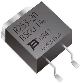 PWR263S-20-1000J, Res Thick Film 100 Ohm 5% 20W ±100ppm/C Epoxy TO-263 Gull Wing SMD Automotive Tube