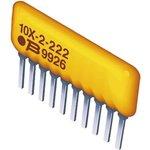 Фото 2/2 4610X-102-101LF, Res Thick Film NET 100 Ohm 2% 1.25W ±100ppm/C ISOL Conformal Coated 10-Pin SIP Pin Thru-Hole Bulk