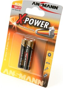 Фото 1/2 ANSMANN X-POWER 5015603 LR03 BL2, Элемент питания