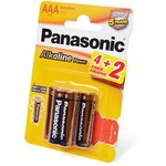 Panasonic Alkaline Power LR03APB/6BP 4+2F LR03 4+2шт BL6 ...