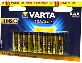 VARTA LONGLIFE 4103 LR03 BL10, Элемент питания