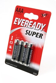 EVEREADY Super Heavy Duty R03 BL4, Элемент питания