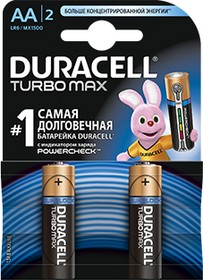 Фото 1/2 Turbo Max LR6 (MN1500/А316/AA)2, Элемент питания алкалиновый (2шт) 1.5В