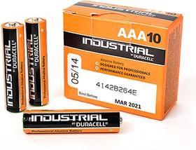 Фото 1/2 Industrial LR03 (MN2400/А286/AAA)10, Элемент питания алкалиновый (10шт) 1.5В