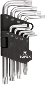 35D960, Ключи шестигранные Torx T10-T50, 9 шт
