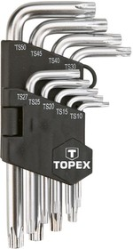 35D950, Ключи звездочки (пятигранники с отверстием), TS10-50, 9 шт