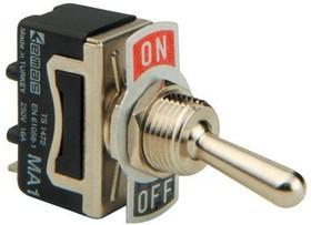 MA111-L, Тумблер ON-OFF (16A 250VAC) 2P (пайка)