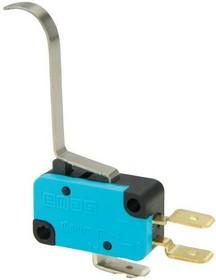 MK1KIM5,  Микропереключатель 10А 250VAC с S-образной лапкой
