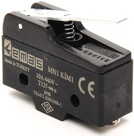 MN1KIM1, Микропереключатель 10А 440VAC с лапкой