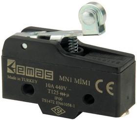 MN1MIM1, Микропереключатель 10А 440VAC с роликом