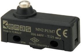 MN2PUM7, Микропереключатель 10А 440VAC с плунжером