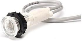 S100B, Лампа неоновая с держателем и проводом 230V белая