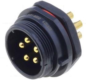SP2112/P5, Разъем на панель влагозащищенный (п) 5pin IP68