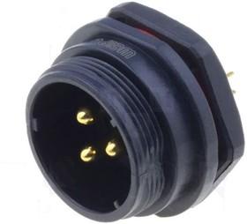 SP2112/P3, Разъем на панель влагозащищенный (п) 3pin IP68