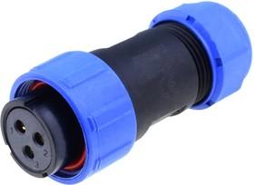SP2110/S3, Разъем на кабель влагозащищенный (м) 3pin IP68