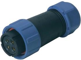 SP2110/S4, Разъем на кабель влагозащищенный (м) 4pin IP68
