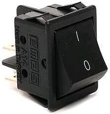 A14H, Переключатель черный без подстветки ON-OFF (16A/250VAC) 4P