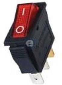 A11K, Переключатель красный с подсветкой ON-OFF (16A/250VAC) 2P