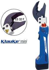 ES32FML Электрогидравл. аккум. кабелерез KLAUKE-Mini для Cu- и Al- особогибкого кабеля (5-6 кл.) диам. до 32мм / акк. Li-Ion 10.8 В / 1.5 А