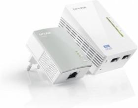 Сетевой адаптер PowerLine/WiFi TP-LINK TL-WPA4220KIT Ethernet