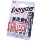 Фото 3/3 Energizer MAX LR6 BL4, Элемент питания