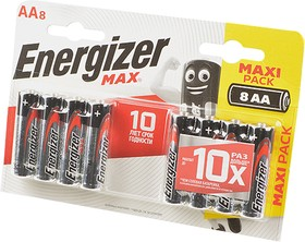 Energizer MAX LR6 BL8, Элемент питания
