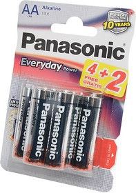 Panasonic Everyday Power LR6EPS/6BP 4+2F LR6 4+2шт BL6, Элемент питания