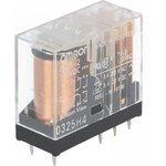 G2R-2-110DC, Реле электромагнитное, DPDT, Uобмотки 110ВDC, 5A/250ВAC, Шаг 5мм