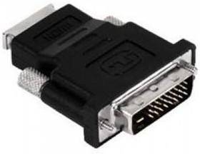 Переходник BURO HDMI (f) - DVI-D(m) , GOLD [hdmi-19fdvid-m_adpt]