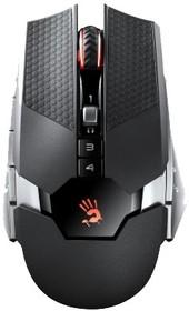 Мышь A4 Bloody RT5 Warrior оптическая беспроводная USB, черный и серый
