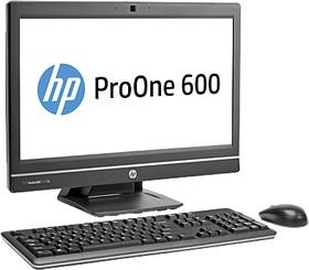 Моноблок HP ProOne 600 G1, Intel Core i3 4160, 4Гб, 500Гб, Intel HD Graphics 4400, DVD-RW, Windows 7 Professional, черный [j7d57ea]