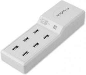 BP1605, USB-разветвитель 6 в 1 с фильтром, настольный, 1.5м