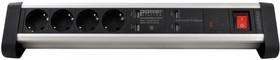 Фото 1/2 BP1613, Удлинитель сетевой с фильтром, 4 розетки + 4 USB, настольный, 1.5м
