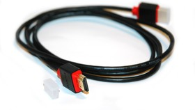 HDSL1, Кабель HDMI (M) - HDMI (M) вер. 1.4, поддержка Ethernet/3D, тонкий, 1м