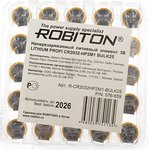 ROBITON PROFI CR2032-HP2M1 с выводами под пайку BULK25 ...