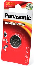 Panasonic Lithium Power CR-2016EL/1B CR2016 BL1, Элемент питания