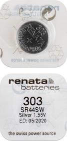 RENATA SR44SW 303 (0%Hg), Элемент питания