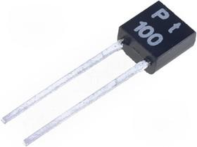 Фото 1/2 PT100-TO92, Датчик температуры, Pt100, 100 Ом, класс B 0.12 %, Корпус TO92