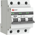 Выключатель нагрузки ВН-125, 3P 100А EKF PROxima | SL125-3-100-pro | EKF