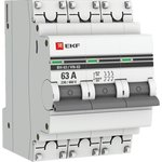 Выключатель нагрузки ВН-63, 3P 63А EKF PROxima | SL63-3-63-pro | EKF