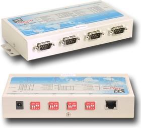 NetCom 413, 4-портовый асинхронный сервер RS-232/422/485 в Ethernet