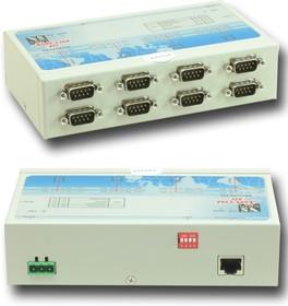 Фото 1/2 NetCom 811, 8х-портовый асинхронный сервер RS-232 в Ethernet
