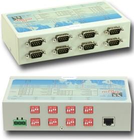 Фото 1/2 NetCom 813, 8-портовый асинхронный сервер RS-232/422/485 в Ethernet