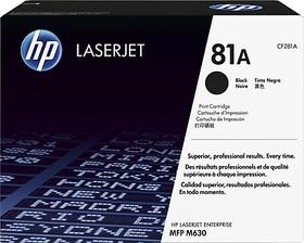 Картридж HP 81A CF281A, черный