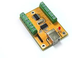 Фото 1/2 USB-DA10, 10-канальный модуль цифрового и аналогового ввода/вывода с интерфейсом USB