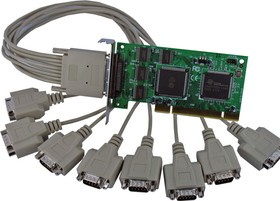 VScom 800H UPCI Low Profile, 8-портовая плата RS-232 на шину UPCI, Low Profile